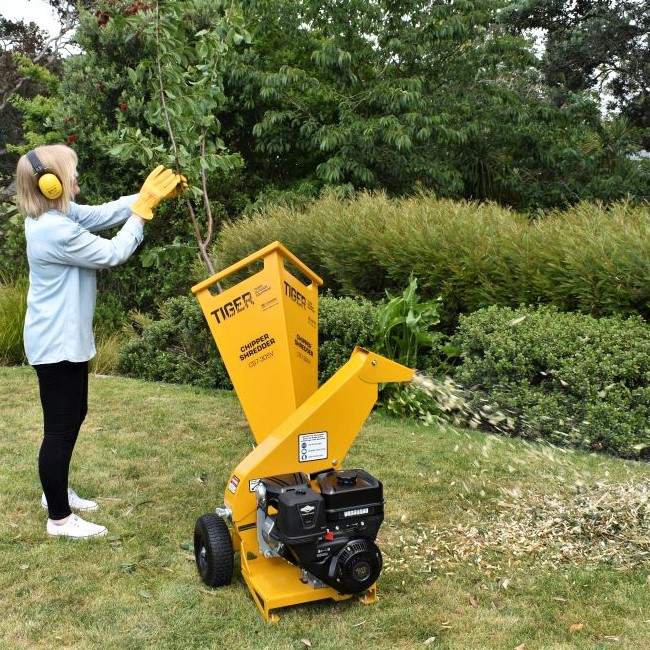 TIGER Chipper Shredder means you reduce and recycle garden waste easier and faster.